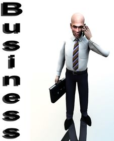 Business Man Standing Word 6 Stock Photos