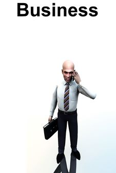 Business Man Standing Word 6 Stock Images