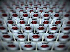 Free Many Lips Of Love 3 Stock Photos - 4011183