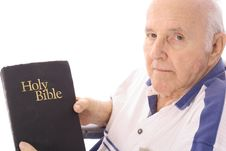 Free Grandfather With A Bible Royalty Free Stock Image - 4012336