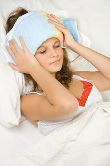 Free Girl In The Bed Expressing Flu Stock Photos - 4012653