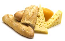 Free Baguette And Cheese Stock Image - 4012681