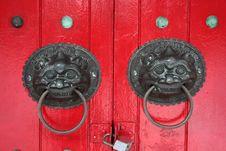 Free Lion Door Knockers Stock Images - 4012834