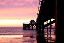 Free Pier At Sunset Royalty Free Stock Images - 4013459