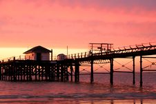 Free Pier At Sunset Royalty Free Stock Images - 4013479