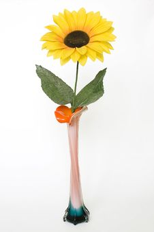 Free Sunflower In A Vase Stock Photo - 4014130