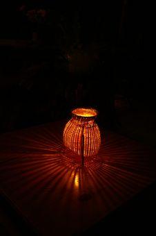 Free Bamboo Lamp Black Background Stock Image - 4014181