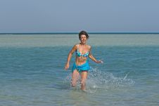 Free Woman In Water Stock Images - 4014394