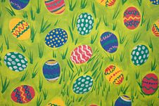 Free Easter Egg And Grass Background Royalty Free Stock Photo - 4014485