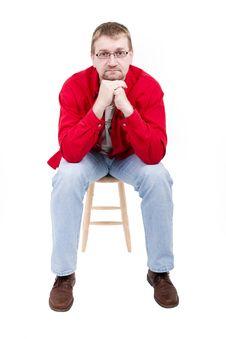 Free Man In Red Shirt Stock Image - 4014911