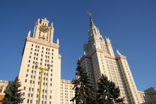 Building Of The Moscow State University  M.Lomonos Stock Image