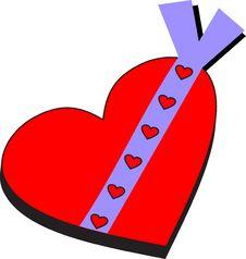 Free Heart Gift Royalty Free Stock Photos - 4015788