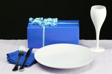 Free Blue Party Table Royalty Free Stock Image - 4016196