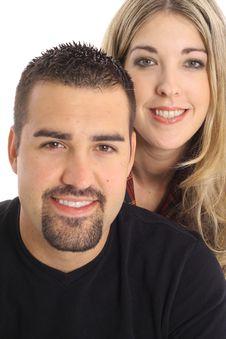 Free Beautiful Blonde & Latino Man Royalty Free Stock Images - 4016289