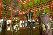 Free Buddha Temple Interior Royalty Free Stock Photography - 4016337