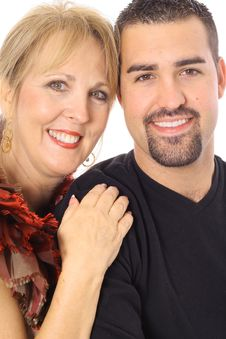 Free Latino Man & Mother Together Royalty Free Stock Photography - 4016467