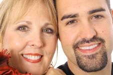 Mother And Son Headshot Royalty Free Stock Image