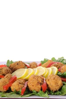 Free Fried Hushpuppy Appetizer Stock Photo - 4016590