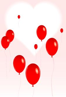 Free Valentine Balloons Stock Image - 4019181