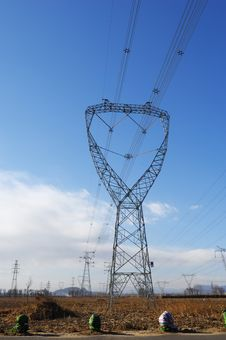 Free Power Lines Stock Image - 4019321