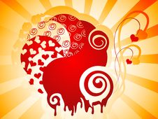 Abstract Background For Valentine Stock Images