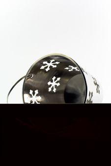Free Pail With Snowflakes... Stock Photos - 4019593