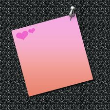 Free Love Note Posted Stock Photography - 4019652