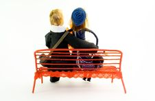 Free Girl And Boy On The Bench.. Royalty Free Stock Photo - 4019715