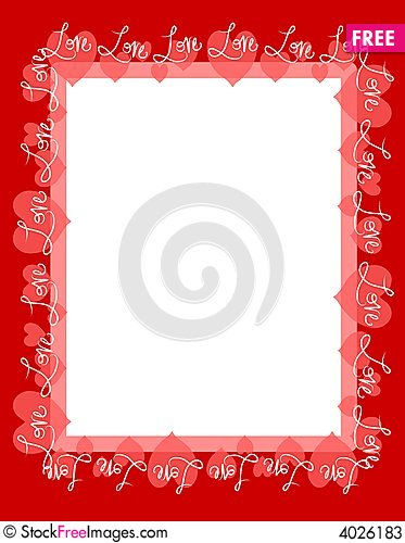 Red Love Hearts Frame Border - Free Stock Photos & Images - 4026183 ...