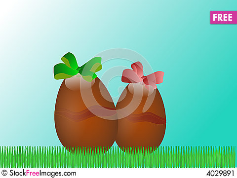 Free Easter Chocolate Eggs Stock Image - 4029891