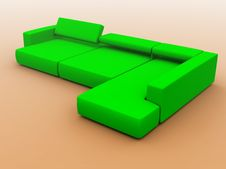 Free Sofa In Green Tones Stock Photos - 4020213