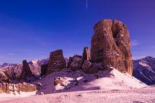 Free Cinque Torri Italy Dolomites Royalty Free Stock Photography - 4020307