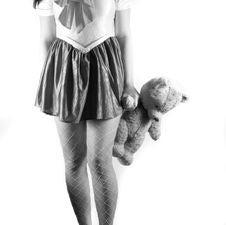 Girl With Tedy Bear Stock Image