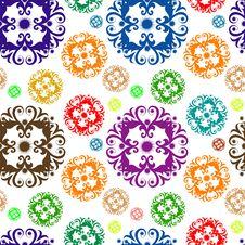 Seamless Floral Wallpaper Stock Photo