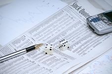 Free Gambling On Stocks Stock Photos - 4021503