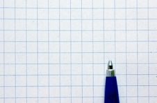 Pen On Empy Piece Of Paper. Royalty Free Stock Photo