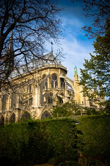 Free Notre Dame Back View Royalty Free Stock Photos - 4022548