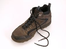 Free Hiking Boot With Laces Royalty Free Stock Images - 4022619