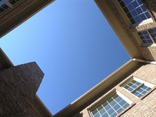 Luxury Courtyard Looking Up Royalty Free Stock Photography