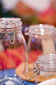 Glass Jars Royalty Free Stock Photo