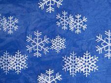 Snowflake Pattern Plastic Stock Image