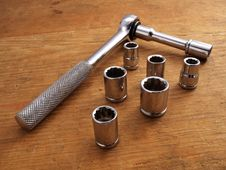 Free Socket Wrench With 6 Extra Sockets-old.JPG Stock Photos - 4023383