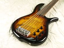 Bass Guitar Glowing Grain 2 Royalty Free Stock Image
