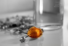 Free Amber Heart Royalty Free Stock Image - 4024086