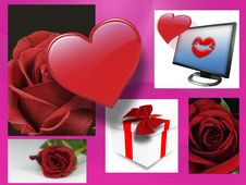 Free Valentine Roses And Hearts Stock Photos - 4024313