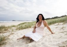 Free Attractive Woman On Beach Royalty Free Stock Photography - 4024647