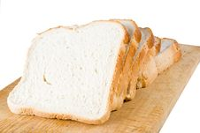 Free Five Slices Of White Bread Royalty Free Stock Photos - 4024798