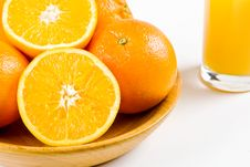 Free Oranges With A Glass Of Orange Juice Stock Photos - 4024863