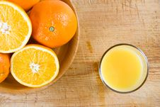 Free A Bowl Of Oranges On A Wooden Block Stock Photo - 4024870