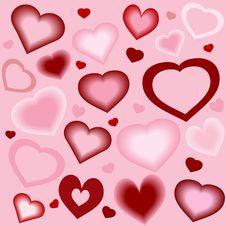 Free Stylized Hearts Background Royalty Free Stock Photography - 4025367